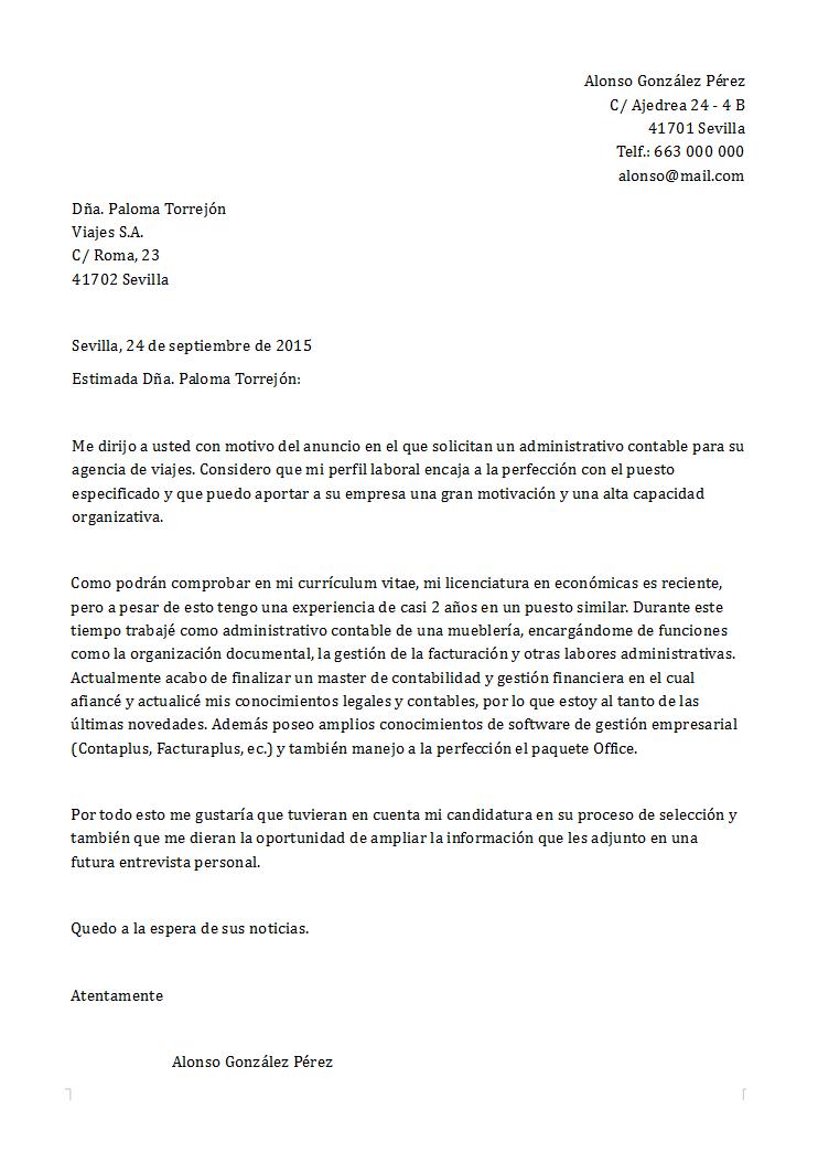 carta presentacion de resume