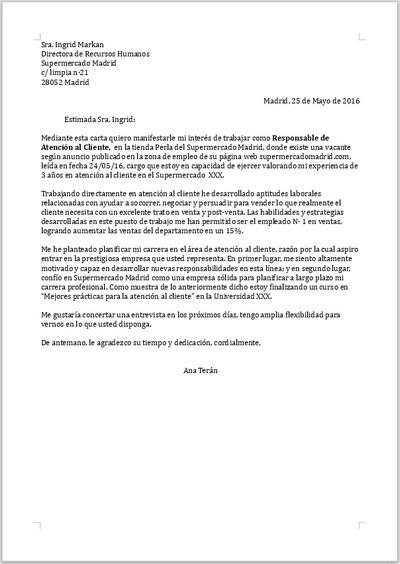 ejemplo de carta de presentaci u00f3n para responsable de
