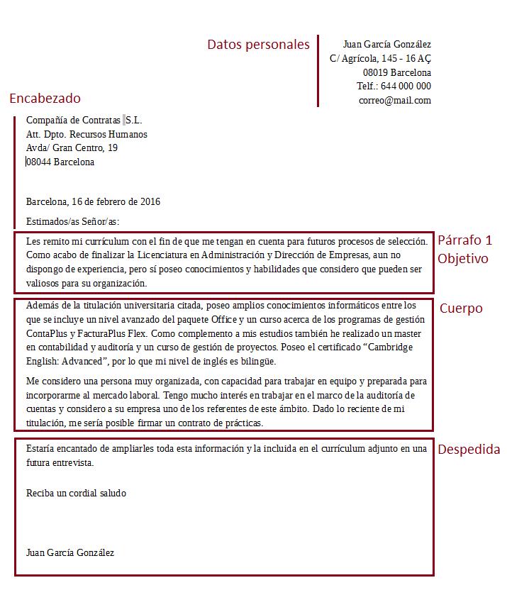 Plantilla Para Una Carta De Presentación Perfecta
